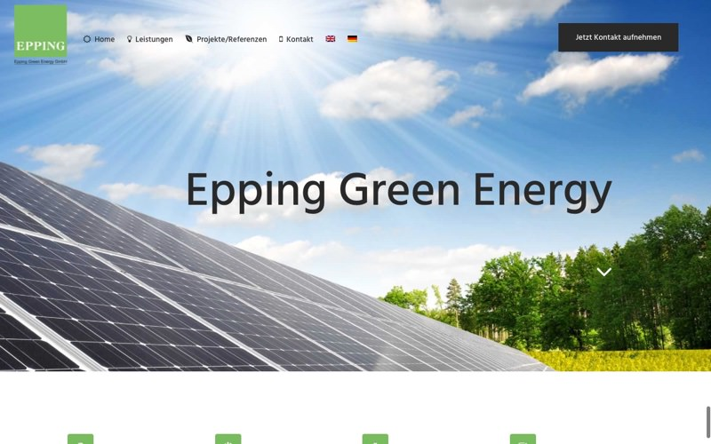 Epping Green Energy Website (Referenz Hanna Brunken)