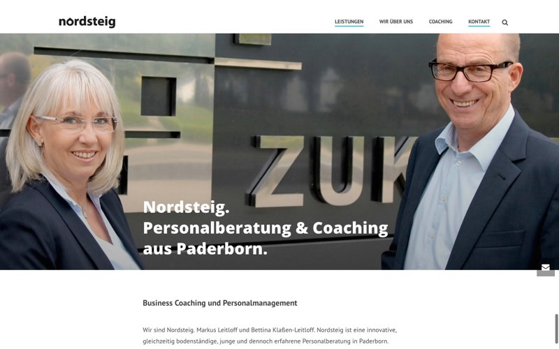 Nordsteig Personalberatung & Coaching Website (Referenz Hanna Brunken)