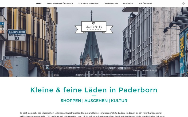 Stadtperlen Paderborn Website (Referenz Hanna Brunken)